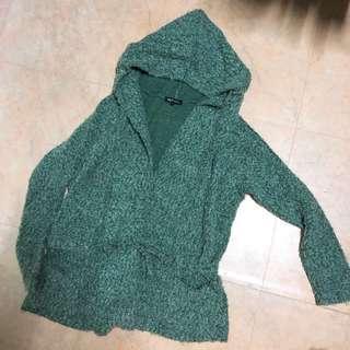 🚚 Net 綠色毛呢外套