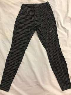 Asics Striped Sports Leggings Size S