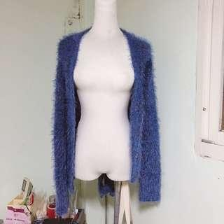 🚚 藍色海馬毛外套