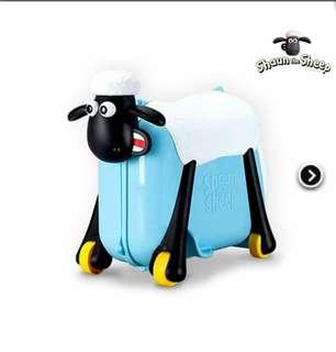 SHAUN THE SHEEP RIDE ON HARD CASE BOARDING TOYS KIDS LUGGAGE