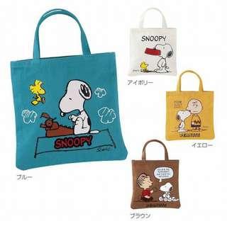 🚚 正版授權 日本 花生漫畫 SNOOPY 史努比 手提袋 收納袋 置物袋 便當袋 環保袋 外出袋 四款