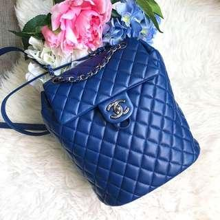 ❌SOLD!❌ Beautiful Bag at Superb Deal! Chanel Mini Urban Spirit Backpack in Lambskin and Dark SHW