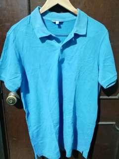 Uniqlo Light Blue Dry Pique Polo Shirt Size XL
