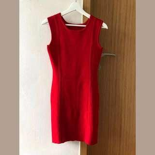 🚚 Carnival Red One-piece Lady Dress for New Year