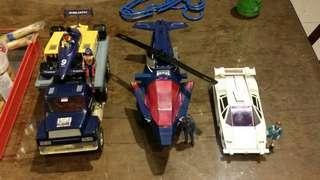M.A.S.K LOT STILETTO, GOLIATH, SWITCHBLADE marvel transformers