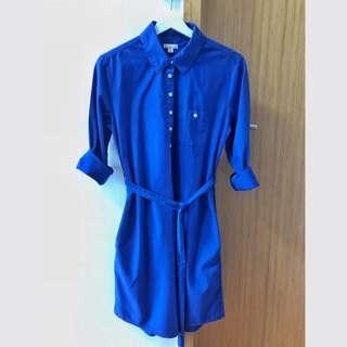 🚚 GAP royalblue shirtdress