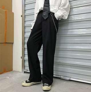 🚚 寬褲 黑色寬鬆長褲 休閒 全新 jean pant black