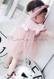 Baby Tutu Dress Girls Romper with Angel Wings and Headband