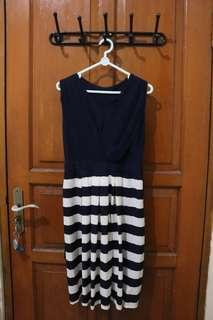 STRIPE BLUE NAVY DRESS