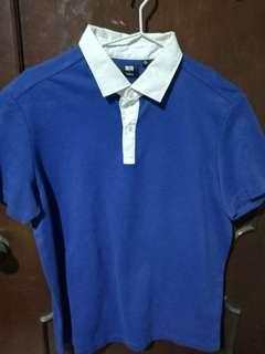 Uniqlo Blue Dry Pique Theory Collab Polo Shirt Size XL