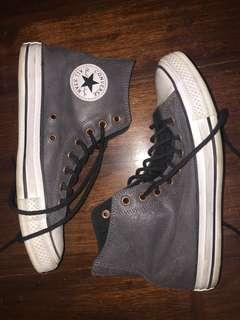 CONVERSE LEATHER CHUCK TAYLORS GRAY us6.5