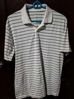 Uniqlo White Striped Dry Ex Polo Shirt Size XL