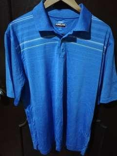 Kirkland Blue Drifit Polo Shirt Size Large (fits XL)