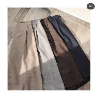 made in korea 深藍色A字顯瘦半截裙