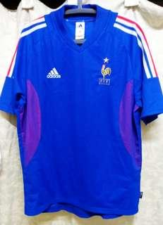Original Genuine Authentic France Football Team Home Jersey 2002/04' ( Vintage Collection ) Made in Tunisia