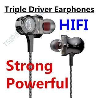 🚚 無麥克風版 魔音耳機 六動圈耳機 HIFI 耳機 超重低音 中高音 降噪 六喇叭 入耳式 手機 線控 K歌神器 動鐵 非 SONY beats 鐵三角 聲海 魔聲 雷鬼 triple driver earphones earbuds deep bass