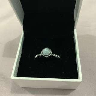 Authentic Pandora Aquamarine Birthstone Ring