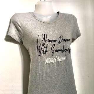 Whitney Houston gray top