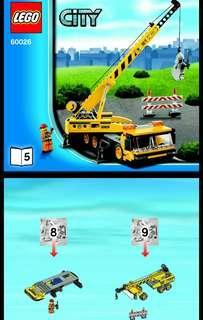 散件包 - 全新未開袋 lego city 60026 Pack 5 - 起重機 + 1人仔  ( 不連石像 有貼紙 說明書 )