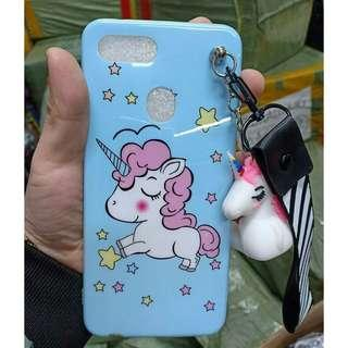 New! 3-in-1 Luxury Unicorn Case ( Case + Doll Chain + Lace )