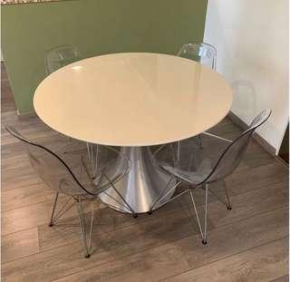 Laminated Quartz Round Dining Table (no chairs)