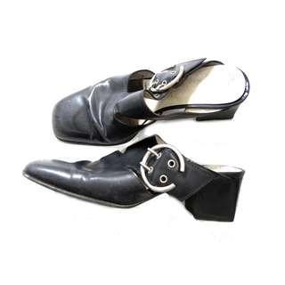 Bruno Magli Black Step In Low Heels