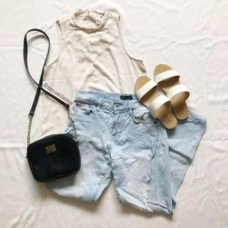Sleeveless Lace Beige Top (F21)