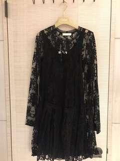 🚚 Chloé 黑蕾絲洋裝