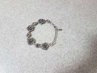 Silver Floral Bracelet