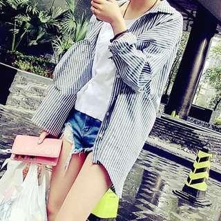 Stripe Shirt/Outerwear