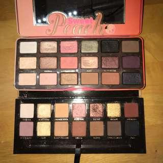 Sweet peach and soft glam palette