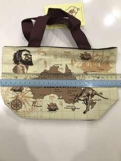 BN Australia Map Tote Lunch Bag with Zip