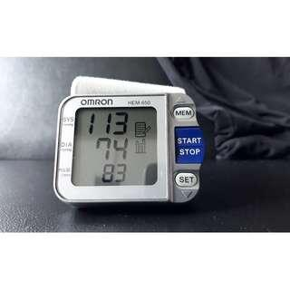 Omron HEM650 Wrist Blood Pressure Monitor with APS