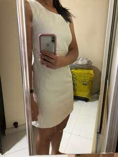 🚚 White Formal Work Dress