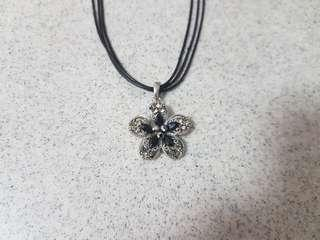Necklace with Black and Silver Necklace Pendant
