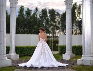 Gown with petticoat for sale