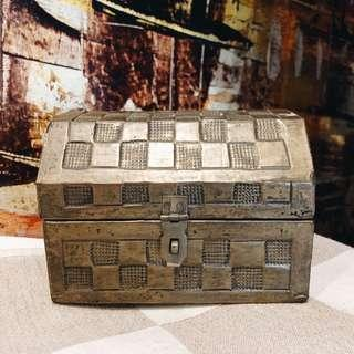 Vintage Bronze Jewelry Box