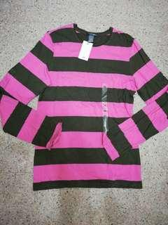 H&M Green/Pink Long Sleeve Tee