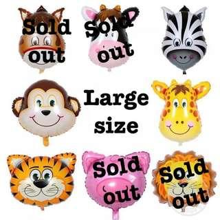 Animals party supplies - Large size balloons / party deco