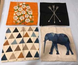Linen Cushion Covers x 4