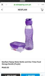 Water Bottle & Food Storage Bundle