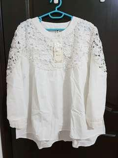 White Lace Blouse -New Buy 1 get 1 free (same price)