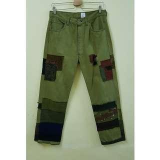 W30 Levis 501 Vtg Orange Tab Jeans. (Original)