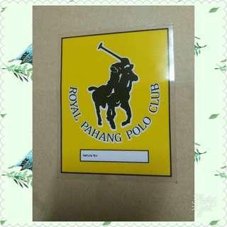 Sticker polo Pahang club