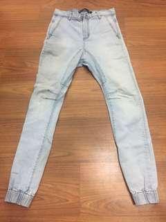 White Jeans Slim Denim Jogger