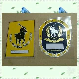 Stiker polo kuning pahang