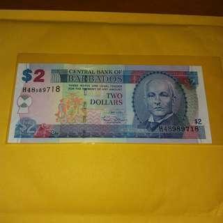 2007 巴巴多斯2元 巴巴多斯劉德華