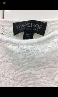 REDUCED TO CLEAR: Topshop White Basic Crochet Lace Cami