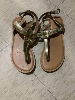 Gold Strap Sandals for Sale