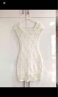 REDUCED TO CLEAR: Hollister Summer White Lace Bodycon Dress